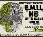 Concert E.M.I.L, H8 si Up To Eleven in club Fabrica