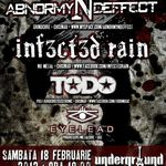Concert Abnormyndeffect si Infected Rain in Iasi