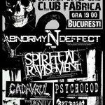 Concertul Abnormyndeffect si Spiritual Ravishment din Bucuresti este amanat