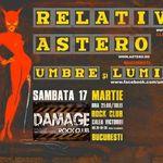 Concert RELATIVE, ASTERO si UMBRE SI LUMINI in Damage Club