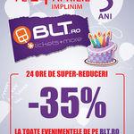 Reduceri de 35% la bilete de concert de aniversarea BLT.ro