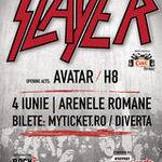 Ce piese vor canta Slayer in aceasta seara la Arenele Romane?