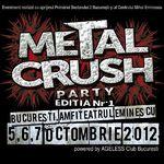 Ultimele trupe confirmate la Metal Crush Party la Amfiteatrul Eminescu