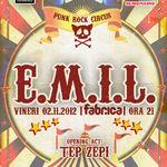 E.M.I.L. si Tep Zepi: Concert vineri la Fabrica