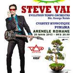 Castiga 10 invitatii duble la concertul Steve Vai la Bucuresti