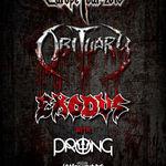 Programul si regulile de acces pentru concertul Obituary, Exodus, Prong si King Parrot de la Arenele Romane