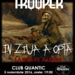 Program si reguli de acces pentru concertul de lansare a noului album Trooper