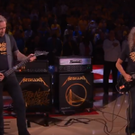 James Hetfield si Kirk Hammett au interpretat imnul Statelor Unite - video