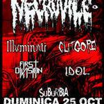 Necrovile, Clitgore, Illuminati si First Division diseara in Suburbia!