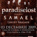 Au mai ramas 300 de bilete pentru concertul Paradise Lost/Samael la Cluj Napoca!
